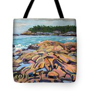 Salmon Rocks Tote Bag