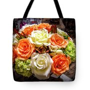 Salmon Rose Bouquet Tote Bag