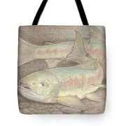 Salmon Spawn Tote Bag
