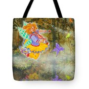 Salmonberry Fairy Merri Goldentree Tote Bag