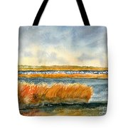 Salt Marsh And Snow Geese Tote Bag