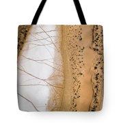 Salt Pans Deep In The Kalahari With 4x4 Tote Bag