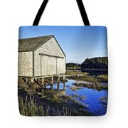 Salt Pond Boathouse  Tote Bag
