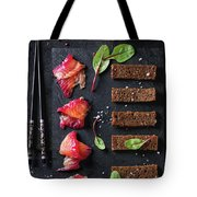 Salted Salmon With Beetroot  Tote Bag