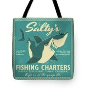 Salty's Fishing Charters Tote Bag