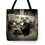 Saluda Piano Man Tote Bag
