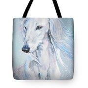 Saluki White Beauty Tote Bag