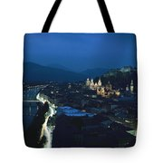 Salzburg, Austria, Night View Tote Bag