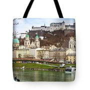 Salzburg City And Fortress  Tote Bag