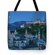 Salzburg City With Hohensalzburg Fortress, Salzburger Land, Austria Tote Bag