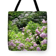 Pink Hydrangeas In Mirabell Garden Tote Bag