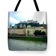 Salzburg Over The Danube Tote Bag by Carol Groenen