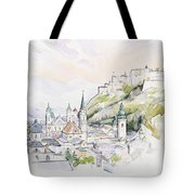 Salzburg Sunrise  Tote Bag by Clive Metcalfe