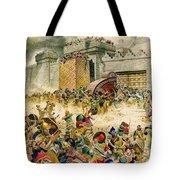 Samaria Falling To The Assyrians Tote Bag