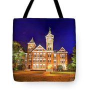 Samford Hall At Night Tote Bag by Tommy Patterson