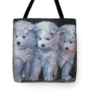 Samoyed Pups Tote Bag