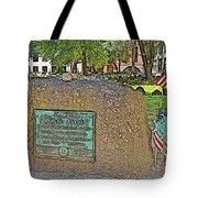 Samuel Adams Gravestone At Granary Burying Ground In  Boston-massachusetts Tote Bag
