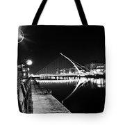 Samuel Beckett Bridge 2 Bw Tote Bag