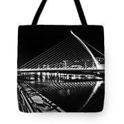 Samuel Beckett Bridge 5 Bw Tote Bag