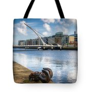Samuel Beckett Bridge, Dublin, Ireland Tote Bag