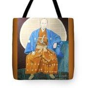 Samurai-san -- Portrait Of Japanese Warrior Tote Bag