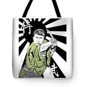 Samurai Warrior Tote Bag