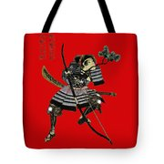 Samurai With Bow Tote Bag