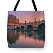 San Angelo Bridge And Castel Sant Angelo Tote Bag