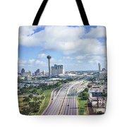 San Antonio City View -color Canvas Print Tote Bag