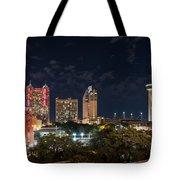 San Antonio Cityscape At Night Tote Bag