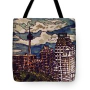 San Antonio Skyline Tote Bag