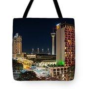 San Antonio Skyline At Christmas Tote Bag