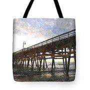 San Clemente Pier Sunset Tote Bag