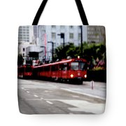 San Diego Red Trolley Tote Bag