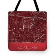 San Diego State Street Map - San Diego State University San Dieg Tote Bag