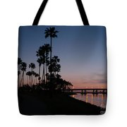 San Diego Sunset With Palm Trees Tote Bag