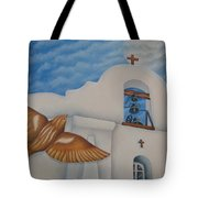 San Elizario On A Moonlit Morning Tote Bag