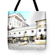 San Felice Circeo Bar And Fountain In The  Square Tote Bag