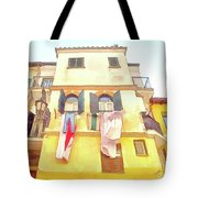 San Felice Circeo Building With The Put Clothes Tote Bag
