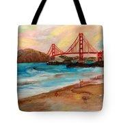 San Francisc Bridge Tote Bag