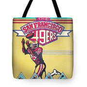 San Francisco 49ers Vintage Program Tote Bag