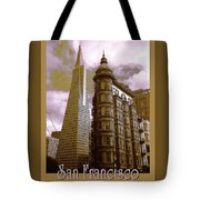 San Francisco Architecure Poster Tote Bag