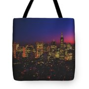 San Francisco At Sunset Tote Bag