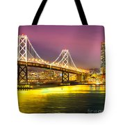 San Francisco - Bay Bridge Tote Bag