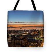 San Francisco Bay Early Morning Glow  Tote Bag