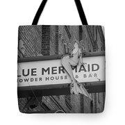 San Francisco Blue Mermaid Bw Tote Bag