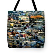 San Francisco California Scenic  Rooftop Landscape Tote Bag