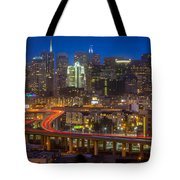 San Francisco From Potrero Hill Tote Bag by Inge Johnsson