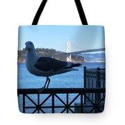 San Francisco - Oakland Bay Bridge - Seagull View Tote Bag