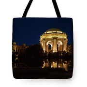 San Francisco Palace Of Fine Arts At Night Tote Bag